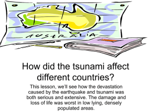 How did the tsunami affect different countries?