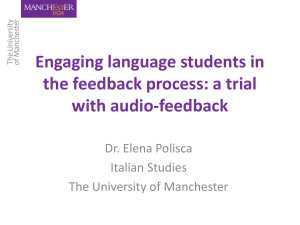 Engaging language students in the feedback process: is audio