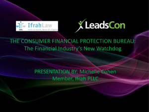 The Consumer Financial Protection Bureau: The