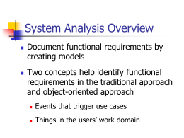 Lecture 3 Structured System Analysis