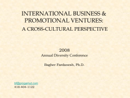International Business and Promotional Ventures