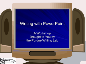 Writing with PowerPoint
