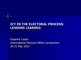 Susanne Caarls - 10th International Electoral Affairs Symposium