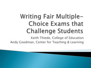 Writing Fair Multiple-Choice Exams that Challenge Students