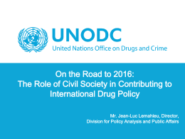 presentation - United Nations Office on Drugs and Crime