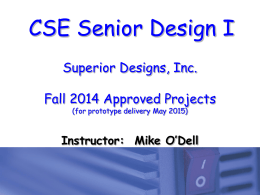 Fall 2014 Projects