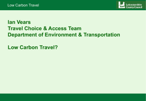 low carbon transport presentation (PowerPoint 6391KB)