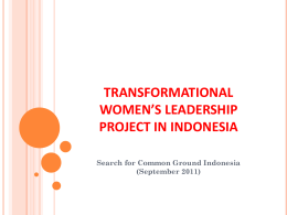 TRANSFORMATIONAL WOMEN`S LEADERSHIP