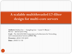 A scalable multithreaded L7-filter design for multi