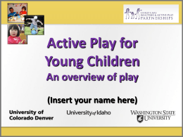 Active play - Child Care MAPP