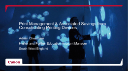 Print Management & Associated Savings from Consolidating