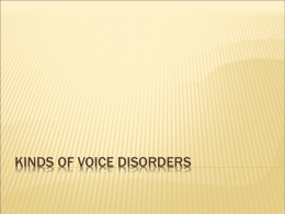 Voice 11 Kinds of Voice Disorders