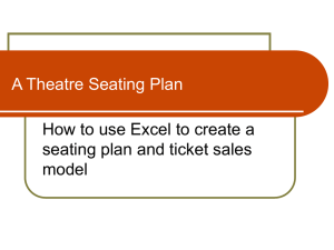 Spreadsheet Seating Plan