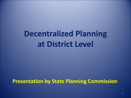DCP District - Decentralized Plan
