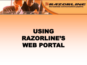 Web Portal - RazorLine