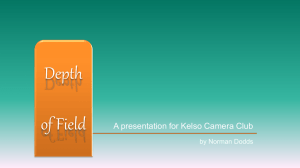 Depth of Field - Powerpoint