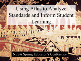 Using Atlas to Analyze Standards and Inform Student Learning