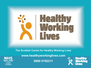 Healthy Working Lives Presentation