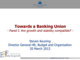 SSM: Key Success Factors - European Banking Federation