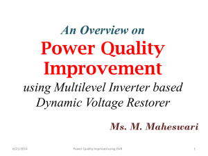 Power Quality Improvement using Multilevel Inverter based Dynamic