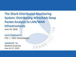 A-5 (LDegioanni) The Shark Distributed Monitoring