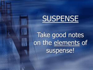 SUSPENSE - Plain Local Schools