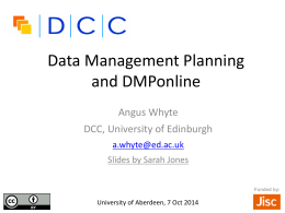 Data Management Planning