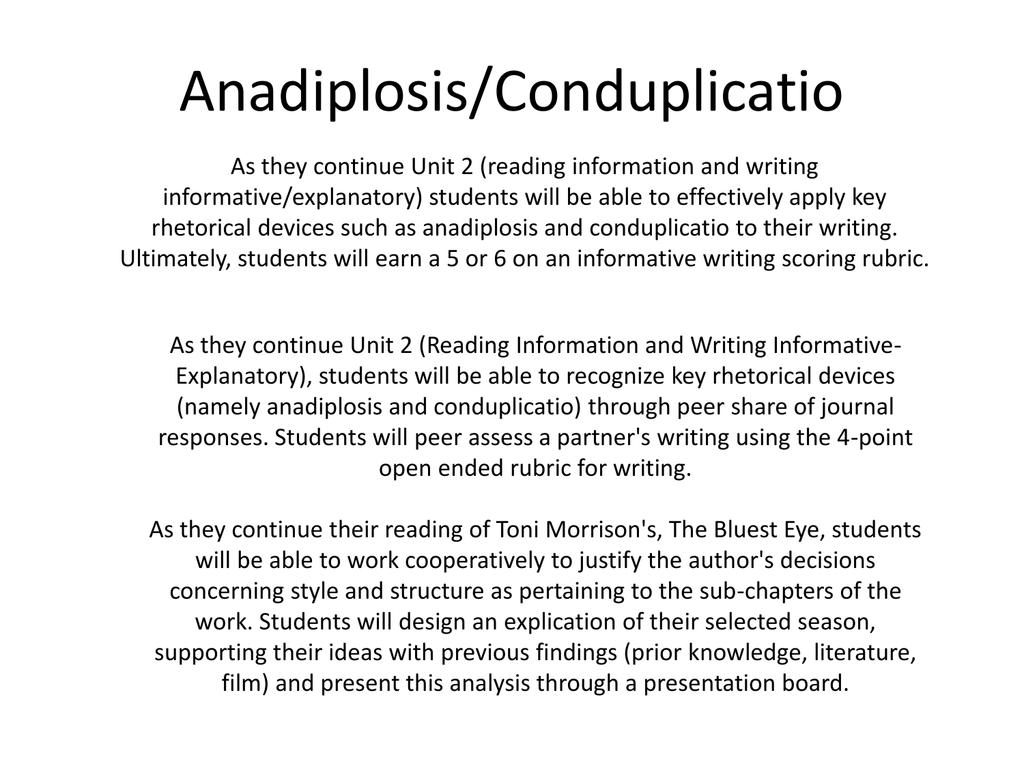 anadiplosis conduplicatio