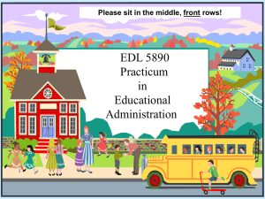 Practicum in Educational Administration (PowerPoint)