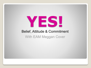 Belief, Attitude and Commitment