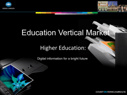 Education Vertical Market Presentation with notes
