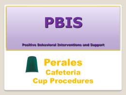PBIS Cafeteria CUPS mini Lesson