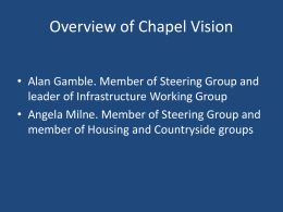 Chapel Vision- Neighbourhood plan