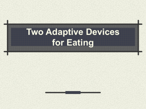 Two Adaptive Devices for Eating