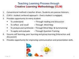 Creative Learning Methodology (CLM)