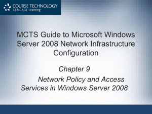 Network Policy and Access Services in Windows Server 2008