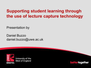 Supporting student learning through the use of lecture capture