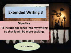 Extended Writing 3 Objective