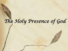 The Holy Presence of God by Bill Mann