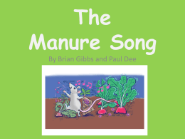 The Manure Song