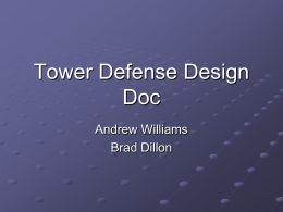 Tower Defense Design Doc