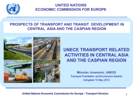 United Nations Economic Commission for Europe - Transport