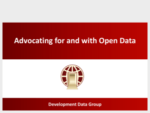 Open Data Initiative Advocacy Presentation