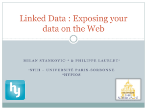 Linked Data : Exposing your data on the Web