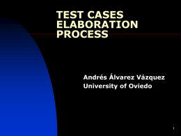Test cases elaboration process