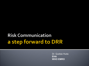 risk communication