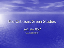 Eco Criticism and Into the Wild