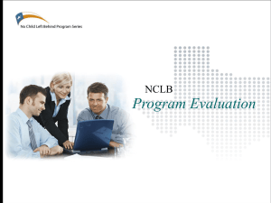 Program Evaluation Requirement