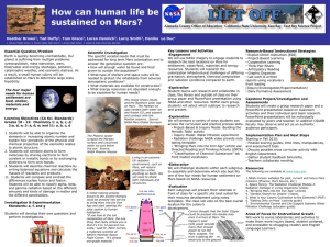 poster for the How Can Human Life be Sustained on
