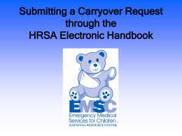 Submitting a Carryover Request through the HRSA